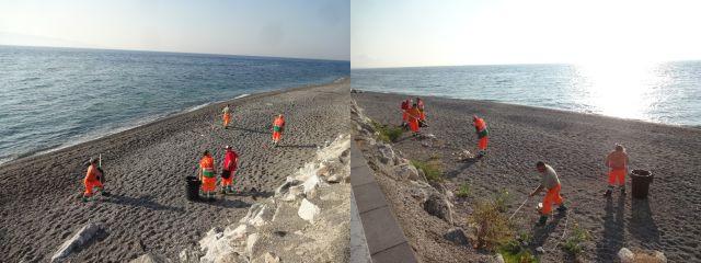 Pulizia spiagge