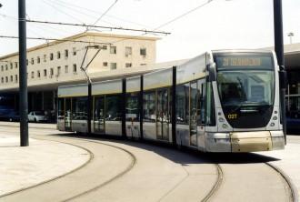 Foto del tram di Messina, piazza Stazione