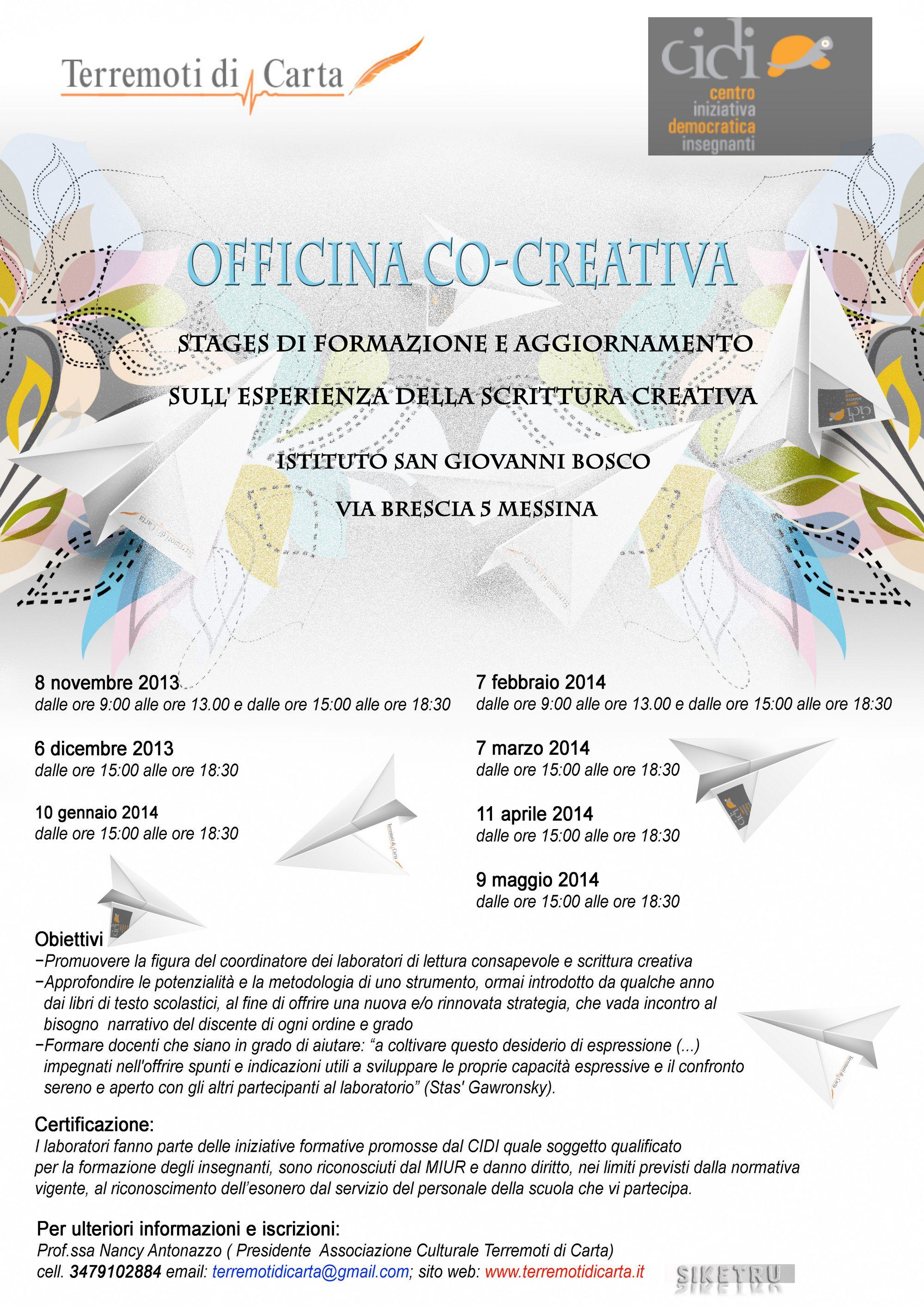 tn locandina officina co-creativa