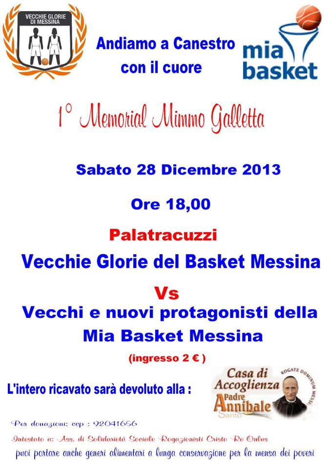 Locandina Memorial Mimmo Galletta