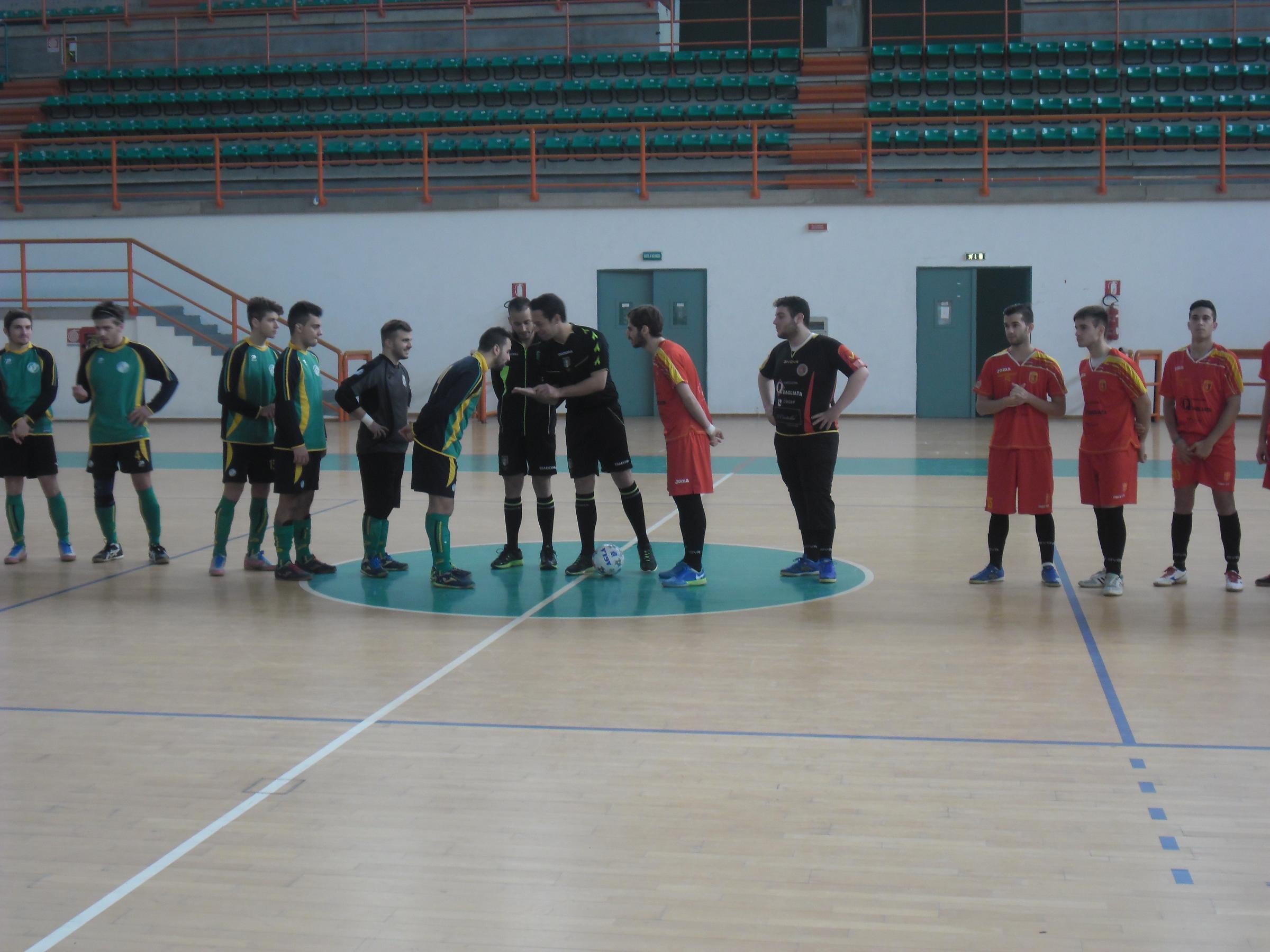 Ingresso in campo Futsal Peloro-Città di Villafranca Under 21