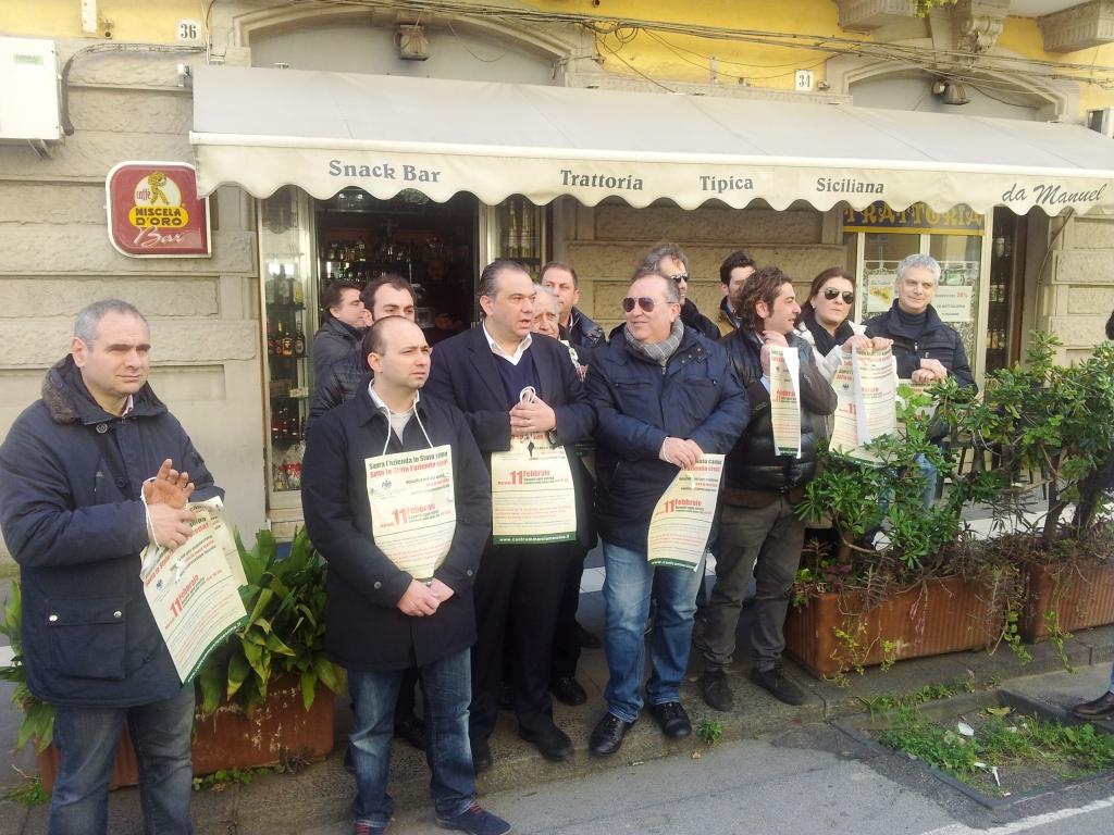 commercianti protesta