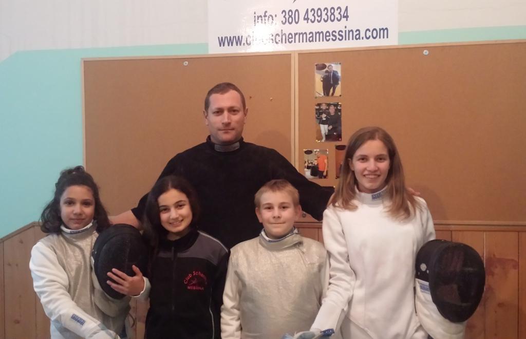 Il maestro Letterio Cutugno con gli allievi Doriana Smeriglio