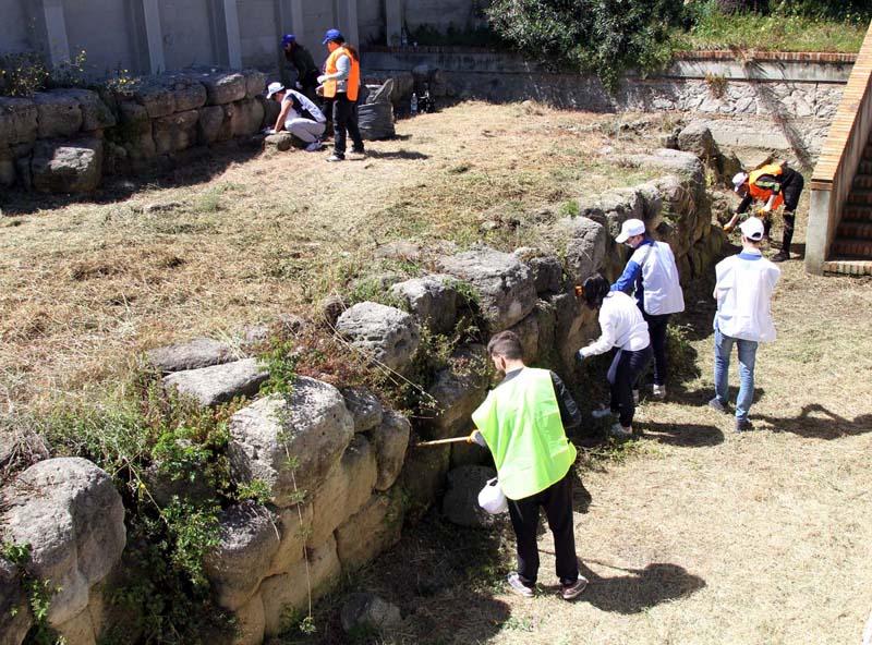 pulizia archeologica