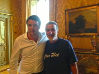 Accorinti con Matteo Renzi