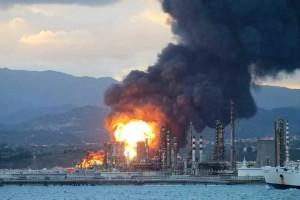 Incendio raffineria1