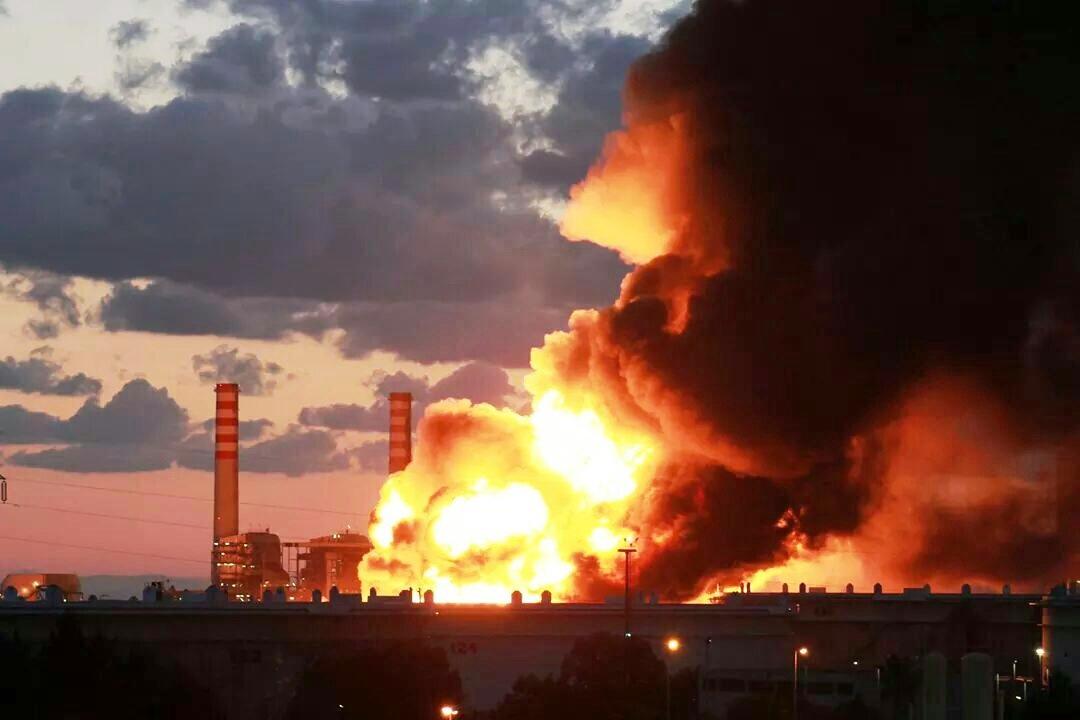 incendio raffineria Milazzo