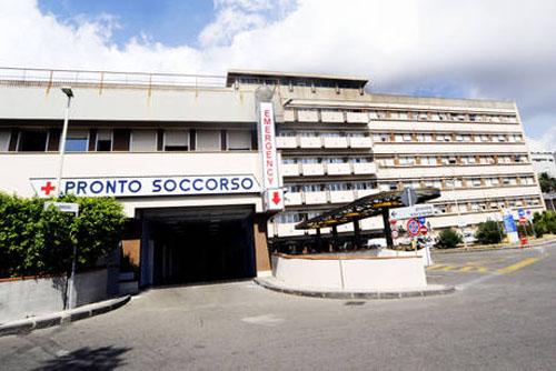 Foto dell'ingresso del Pronto Soccorso del Policlinico di Messina
