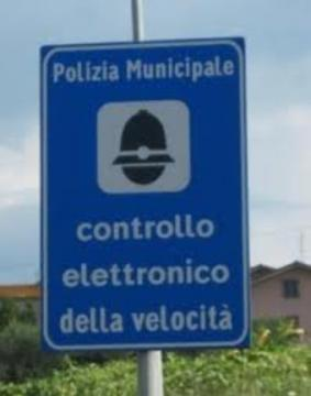 cartello polizia autovelox