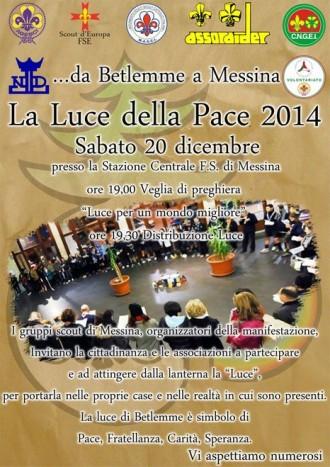 Locandina Luce della Pace 2014