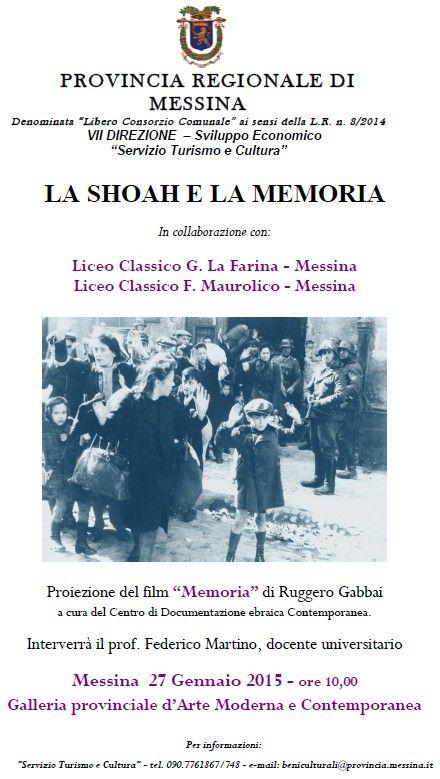 Locandina La Shoah e la memoria