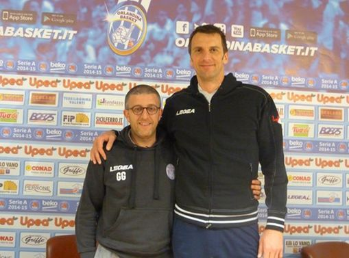coach griccioli e sandro nicevic orlandina basket