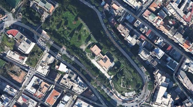 Foto dall'alto del Parco Aldo Moro