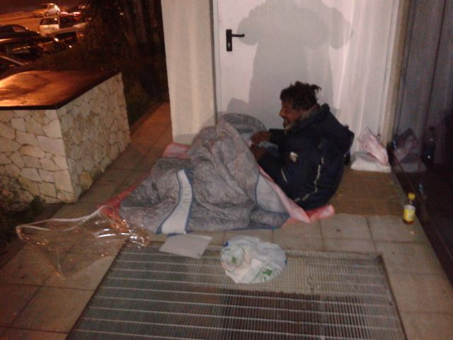 senzatetto zafferia