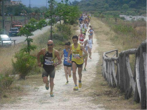 Fase di gara sul percorso ecologico