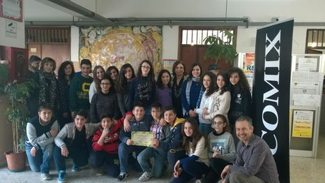 La classe II C con Andrea Delmonte