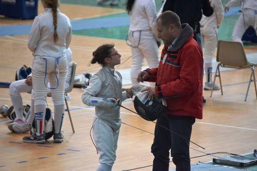 Alba Fanara con il maestro Letterio Cutugno