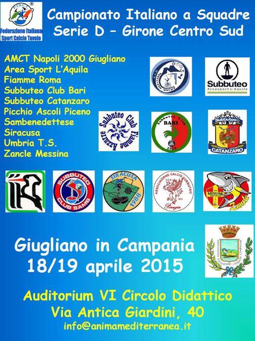 Manifesto Serie D 2015