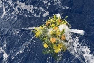 migrante fiori in mare