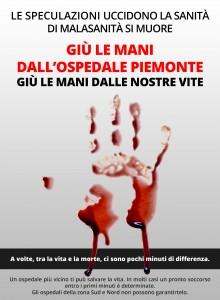 volantino ufficiale Comitato Ospedale Piemonte