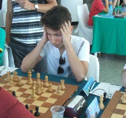 Andrea Favaloro durante una partita al Campionato Italiano