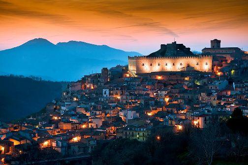 Foto imbrunire Montalbano di Alfio Garozzo