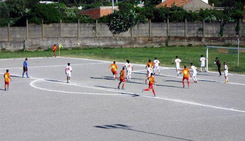Azione del primo gol della Messana
