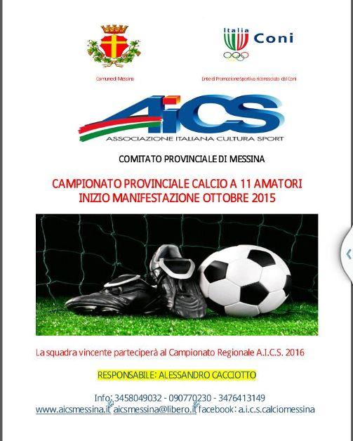 Locandina campionato provinciale calcio a 11 2015-2016