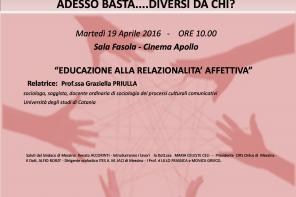 """Per """"Donne in rete"""", conferenza su """"Educazione alla relazionalità affettiva"""". Domani alla sala Fasola"""