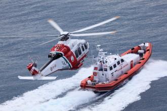 Guardia Costiera - Elicottero e motonave