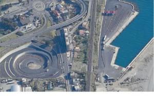 Foto dall'alto dell'approdo di Tremestieri - Messina