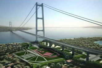 Rendering del Ponte sullo Stretto di Messina