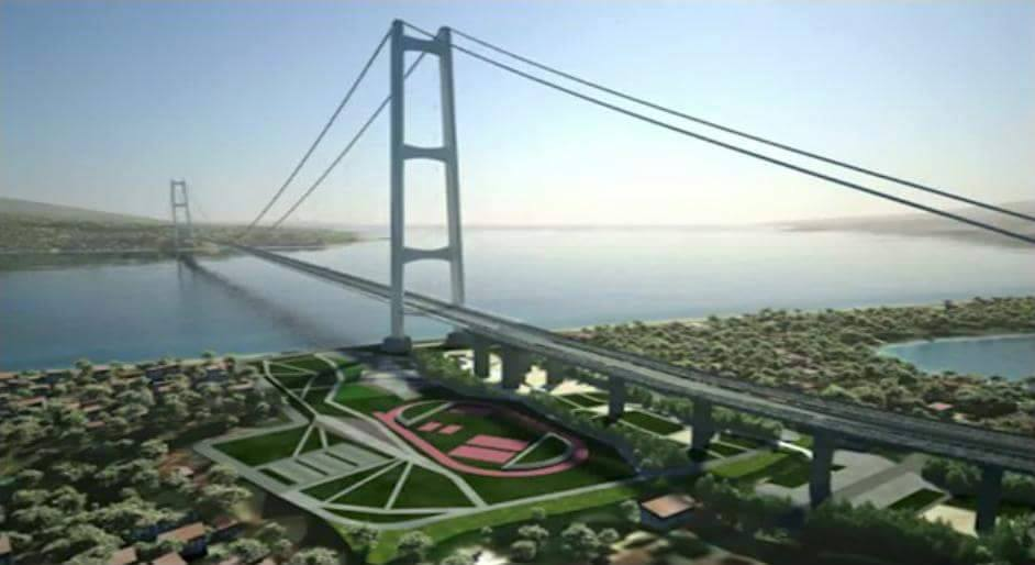 Rendering del Ponte sullo Stretto di Messina