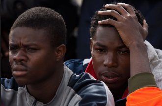 Foto di Migranti a Messina