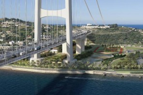 Rendering virtuale ponte sullo Stretto di Messina