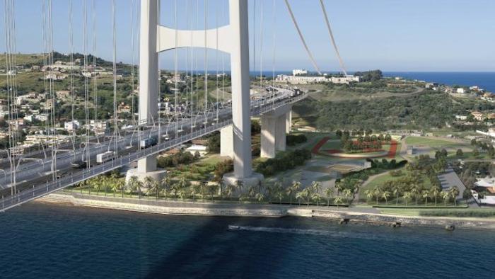 Rendering virtuale ponte sullo Stretto di Messina