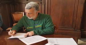 Firma Accorinti protocollo e convenzione
