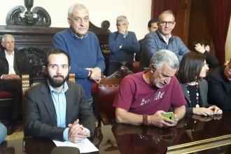 Foto dell'Assessore alla Cultura Federico Alagna e del sindaco Renato Accorinti
