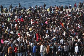 migranti in massa
