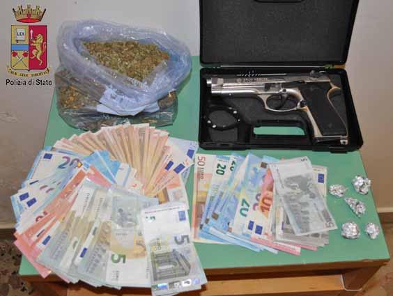 Droga a Messina, la Polizia sequestra 460 dosi e arresta tre pusher