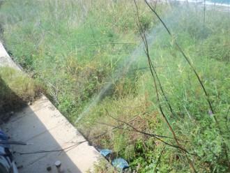 L'acqua che si disperde a causa del guasto
