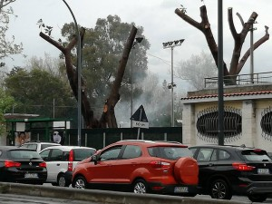 circolo tennis in fiamme