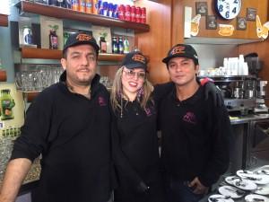 Giacomo, Francesca e Eddy - dipendenti del bar Alessandrino