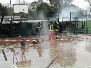 incendio circolo tennis e della vela