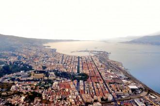 Immagine panoramica di Messina e dello Stretto - Foto di Daniele Passaro