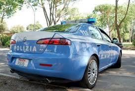 auto della polizia - laterale posteriore