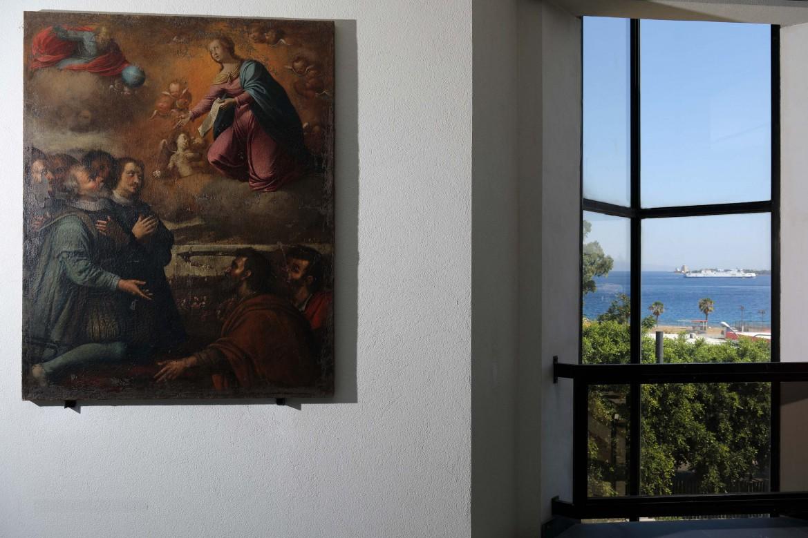 MuMe 22, Placido Campolo, Ambasceria della Vergine. Sullo sfondo lo Stretto di Messina, ph. Parrinello
