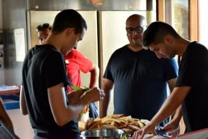 Foto del team a lavoro - Evento slowfood Milazzo
