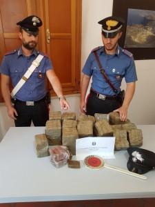 Droga sequestrata CC Milazzo