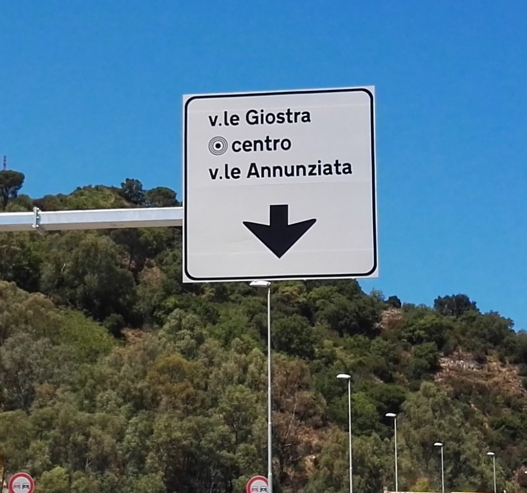 Foto apertura svincolo di Giostra - Messina - rotatoria